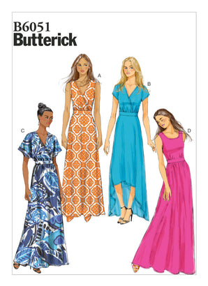 Butterick Pattern B6051 Misses' Surplice Dresses