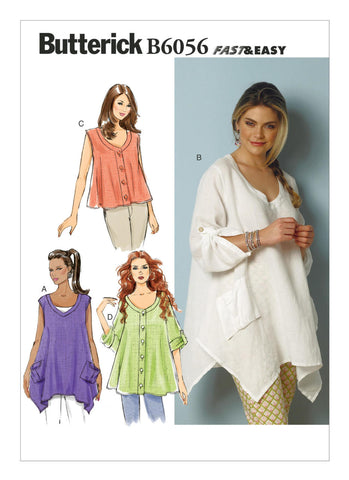 Butterick Pattern B6056 Misses' Tent Tops