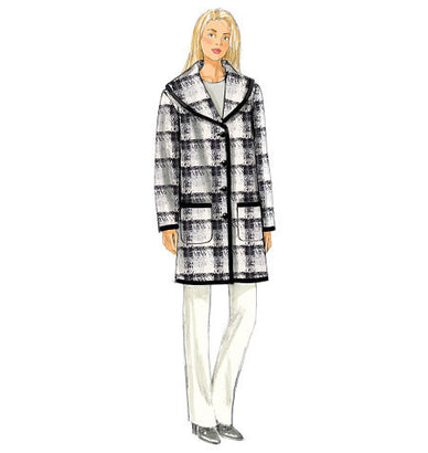 Butterick - B6107 Misses' Coat | Very Easy - WeaverDee.com Sewing & Crafts - 1
