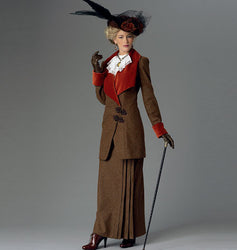 Butterick - B6108 Misses' (Edwardian / Victorian) Retro Jacket, Bib & Skirt - WeaverDee.com Sewing & Crafts - 1