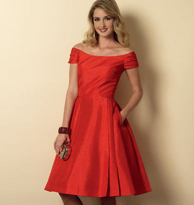 Butterick - B6129 Misses'/Misses' Petite Dress | Easy - WeaverDee.com Sewing & Crafts - 1
