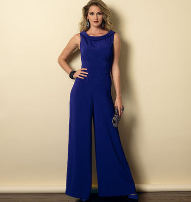 Butterick - B6130 Misses' Dress & Jumpsuit | Easy - WeaverDee.com Sewing & Crafts - 1