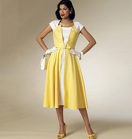Butterick - B6211 Misses Vintage 1950s Dress - WeaverDee.com Sewing & Crafts - 1