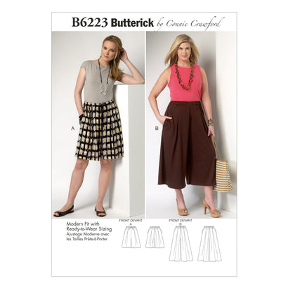 Butterick Pattern B6223 Misses/Womens' Culottes