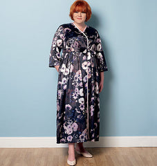 Butterick - B6300 Misses'/Women's Robe, Belt & Negligee | Average - WeaverDee.com Sewing & Crafts - 1