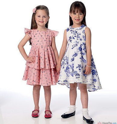 Butterick - B6306 Girls' High-Low or Tiered Dress | See & Sew - WeaverDee.com Sewing & Crafts - 1