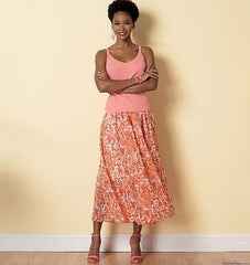 Butterick - B6326 Misses' Raised-Waist or Elastic-Waist Skirts | Easy - WeaverDee.com Sewing & Crafts - 1