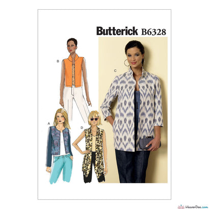 Butterick - B6328 Misses' Open-Front Jackets | Easy - WeaverDee.com Sewing & Crafts - 1
