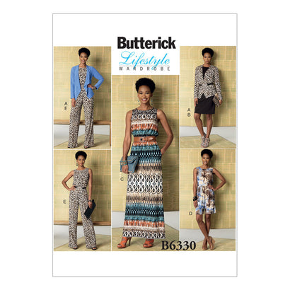Butterick Pattern B6330 Misses' Jacket, Dress, Romper & Jumpsuit | Easy