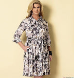 Butterick - B6333 Misses'/Miss Petite/Women's/Women Petite Shirtdress & Sash | Easy - WeaverDee.com Sewing & Crafts - 3