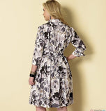 Butterick - B6333 Misses'/Miss Petite/Women's/Women Petite Shirtdress & Sash | Easy - WeaverDee.com Sewing & Crafts - 2