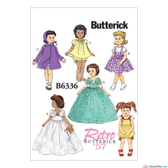 "Butterick - B6336 Retro Outfits for 18"" Doll - WeaverDee.com Sewing & Crafts - 1"