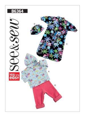 Butterick - B6364 Infants' Hoodie, Pull-On Pants, Bunting & Beanie | See & Sew - WeaverDee.com Sewing & Crafts - 3