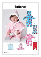 Butterick - B6372 Infants' Cape, Vest, Buntings & Pull-On Pants - WeaverDee.com Sewing & Crafts - 1