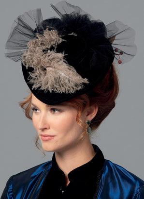 Butterick - B6397 Misses' Historical Hats in Four Styles - WeaverDee.com Sewing & Crafts - 1