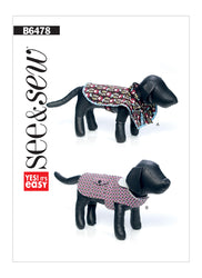 Butterick Pattern B6478 Dog Coats with Contrast & Trim Variations | See & Sew