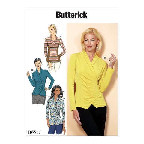Butterick Pattern B6517 Misses' Top with Pleat & Options