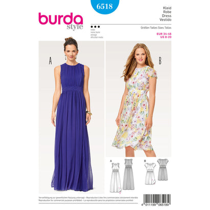 Burda - BD6518 Misses' Two Layered Dress - WeaverDee.com Sewing & Crafts - 1