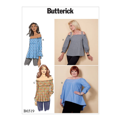 Butterick Pattern B6519 Misses' Off-the-Shoulder Top