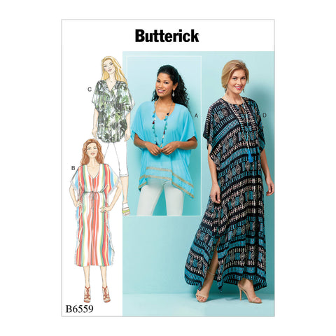 Butterick Pattern B6559 Misses' Top, Tunic & Caftan