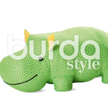 Burda - BD6560 Stuffed Hippo or Rhino - WeaverDee.com Sewing & Crafts - 1