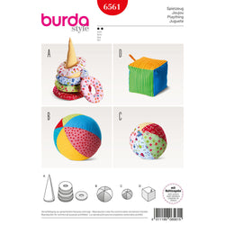 Burda - BD6561 Baby Play Toys - WeaverDee.com Sewing & Crafts - 1
