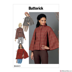 Butterick Pattern B6603 Misses' Cape