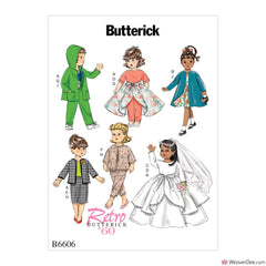 "Butterick Pattern B6606 Clothes For 18"" Doll"