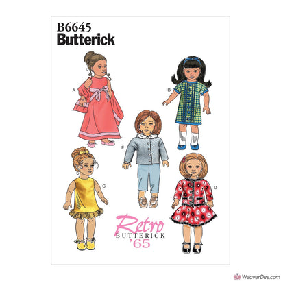 "Butterick Pattern B6645 Clothes For 18"" Doll"