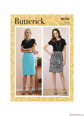 Butterick Pattern B6746 Misses' Straight Skirts & Belt