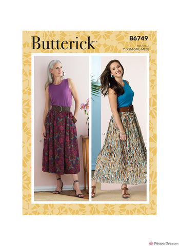 Butterick Pattern B6749 Misses' Gathered-Waist Skirts
