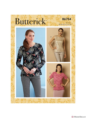 Butterick Pattern B6754 Misses' Keyhole-Closure Tops