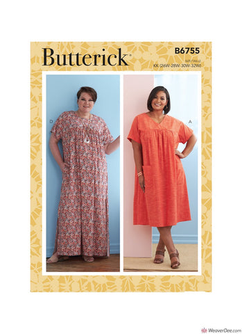 Butterick Pattern B6755 Misses' Asymmetrical-Detail Tunics
