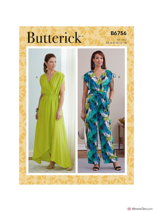 Butterick Pattern B6756 Misses' Dress, Jumpsuit & Sash