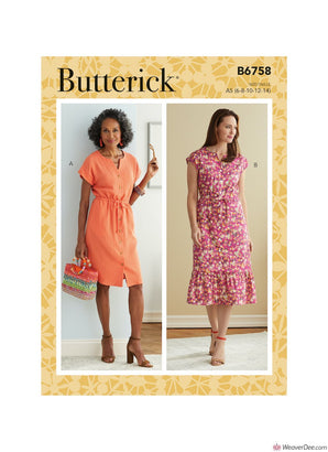 Butterick Pattern B6758 Misses' & Misses' Petite Dress