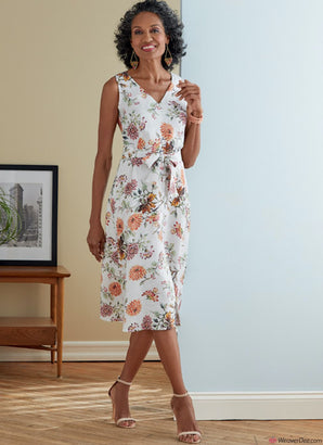 Butterick Pattern B6759 Misses' Dress, Sash & Belt