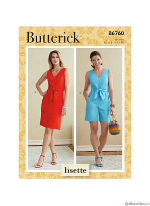 Butterick Pattern B6760 Misses' Dress & Romper