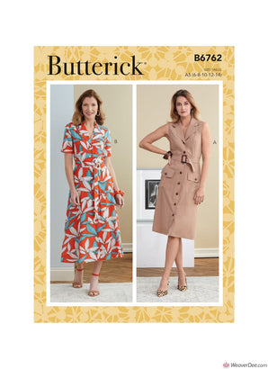 Butterick Pattern B6762 Misses' Dresses & Belts