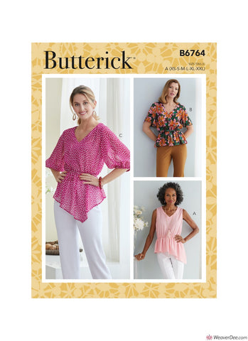 Butterick Pattern B6764 Misses' Tops