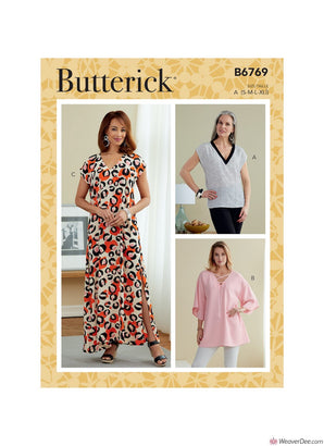 Butterick Pattern B6769 Misses' Top, Tunic & Caftan