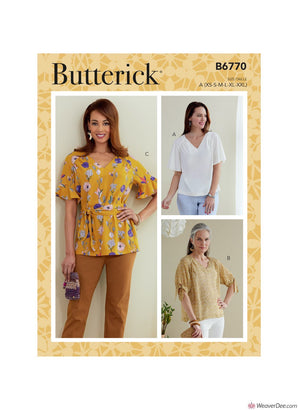Butterick Pattern B6770 Misses' Top & Sash