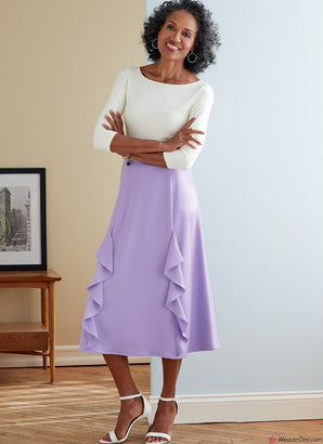 Butterick Pattern B6772 Misses' Skirt