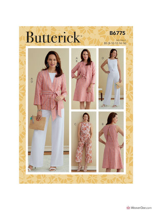 Butterick Pattern B6775 Misses' & Women's Jacket, Sash, Dress & Jumpsuit