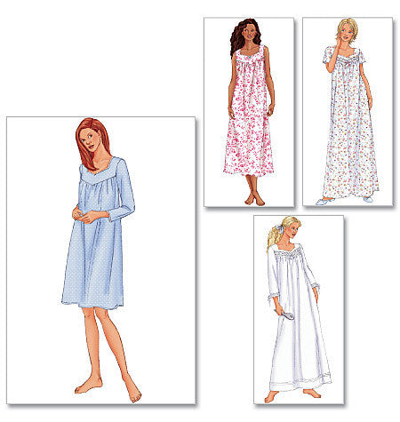 Butterick - B6838 Misses' Petite Nightgown | Easy - WeaverDee.com Sewing & Crafts - 1