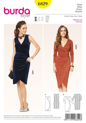 Burda - BD6829 Misses Dress - WeaverDee.com Sewing & Crafts - 1