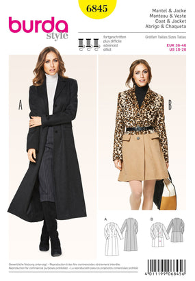 Burda - BD6845 Misses Coat & Jacket - WeaverDee.com Sewing & Crafts - 1