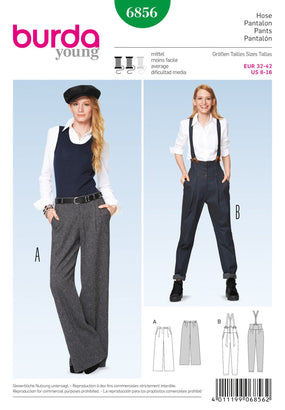 Burda - BD6856 Misses Trousers - WeaverDee.com Sewing & Crafts - 1