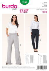 Burda - BD6859 Misses Trousers - WeaverDee.com Sewing & Crafts - 1
