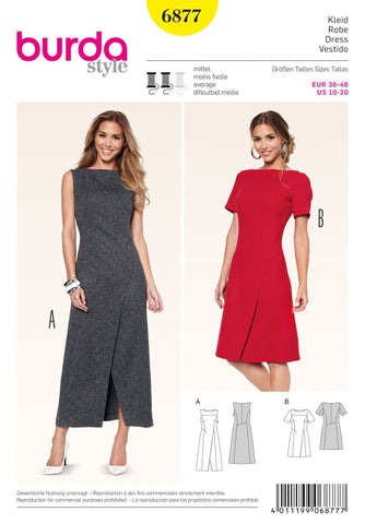Burda - BD6877 Misses Wrap Dress - WeaverDee.com Sewing & Crafts - 1
