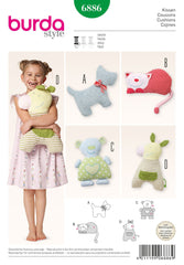 Burda - BD6886 Fluffy Animal Pillows - WeaverDee.com Sewing & Crafts - 1